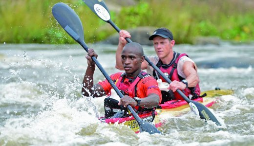 Siseko Ntondini and Piers Cruickshanks finished an overall seventh in this year's Dusi Canoe Marathon, clinching gold medals for the pair EDIT.jpg