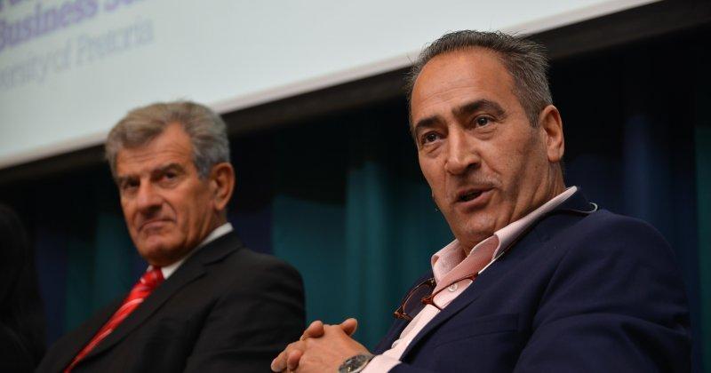 (l-r) Dr Azzar Jammine, Dr Iraj Abedian