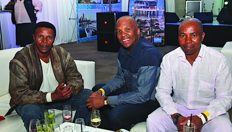 Edgar, Matume Mbatha and Mzi at Soweto Wine Festival.