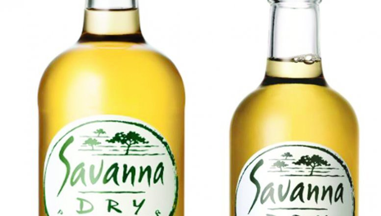 Savanna Dry - the 51% Bigger Bottle.