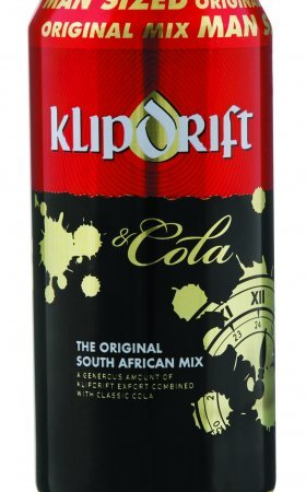 Klipdrift & Cola in Can.