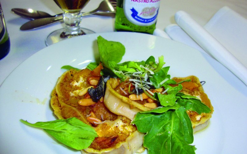 A dish prepared by Peter Goffe-Wood and Pete admitted that food is easier to pair with beer than it is with wine.