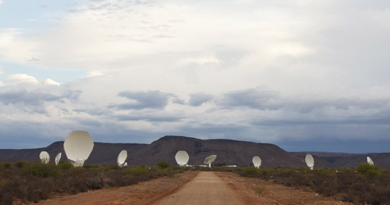 Part of the MeerKAT radio telescope, near Carnarvon, N. Cape