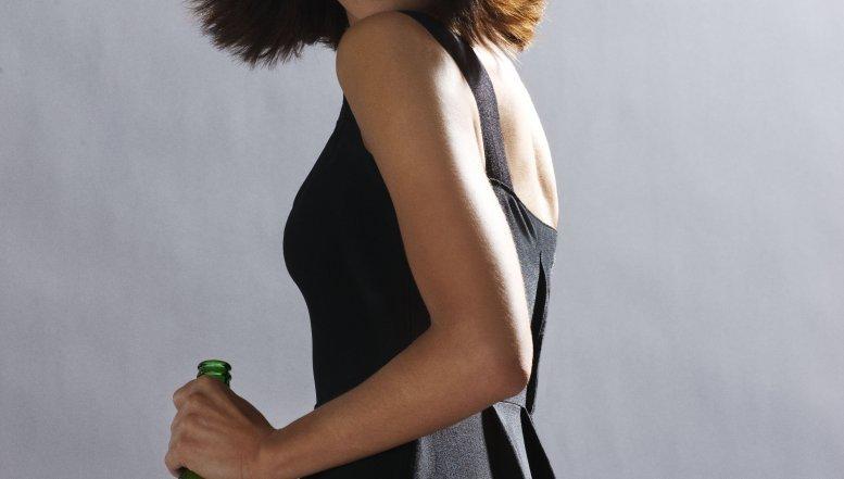 Actres and model, Olga Kurylenko (Camille) in Heineken ads related to Quantum of Solace