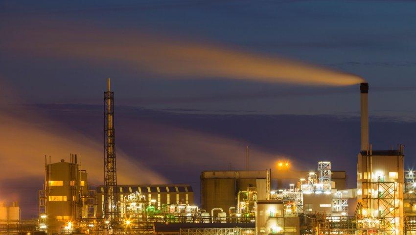A titanium dioxide manufacturing plant, Hartlepool, England, UK