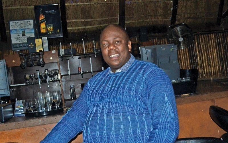 Co-owner of The Vaal Monate Cafe, Letlhogonolo 'Jomo' Tsotetsi.