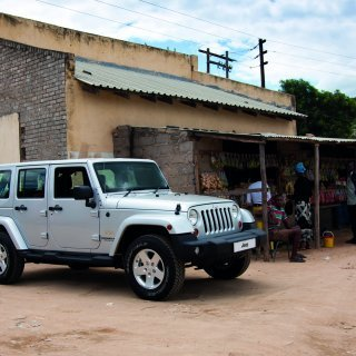It stands out on the road, it stands out in the bush - Jeep Wrangler