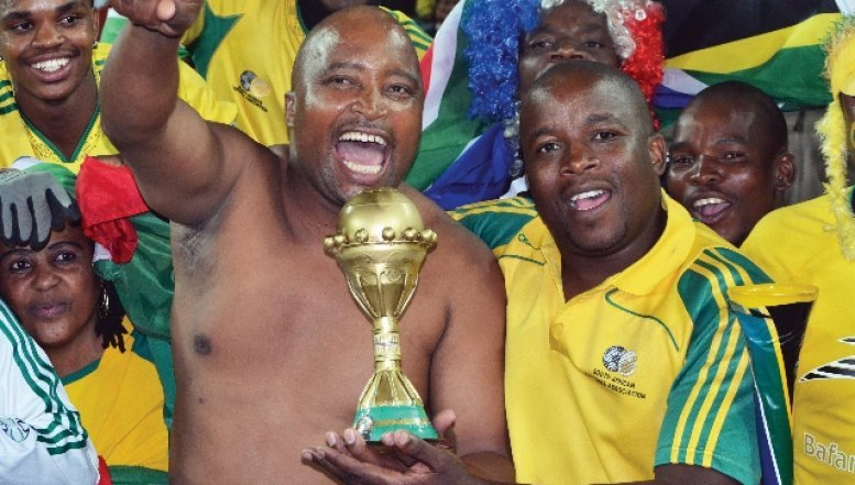 Bafana Bafana supporters during 2013 AFCON Cup.