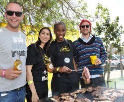 Savanna braai master, Oberon Moolman; Jan Braai; Pierre Greeff and Savanna Junior Brand Manager Lizanne Peters..jpg