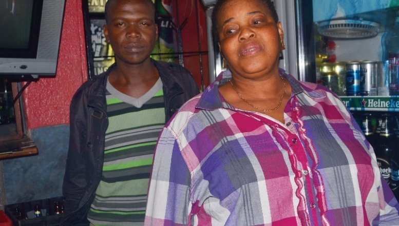 Owner of Mjake's Place in Tembisa, Mjabeng Mkhize and her employee.