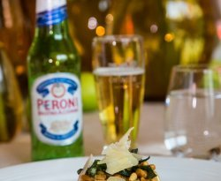 BEER RECIPE_Caramelised Butternut & Goats' Cheese Rotolo, Crisp Sage & Pine Nuts paired with Peroni.jpg
