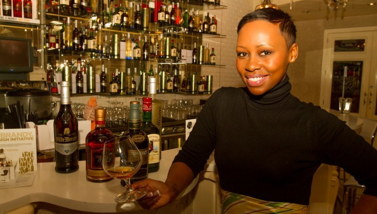 Elana Afrika-Bredenkamp at the Gauteng launch of Fine Brandy Bar Design competion at Sandton Convention Centre.