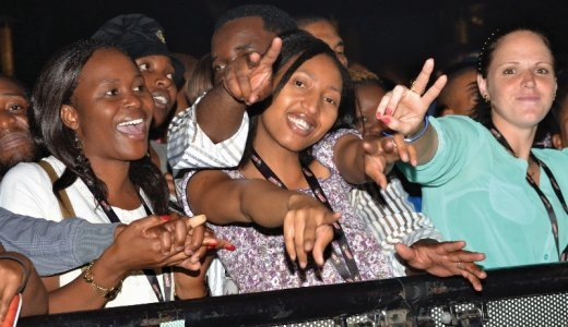 Partygoers celebrating music at this year's Hansa Festival of Legends in Newtown, Joburg. (800x533).jpg