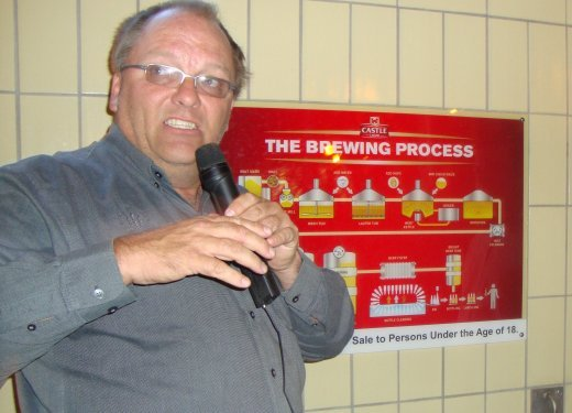 SAB Trade Brewer Anton Erasmus says beer derives its goodness from natural ingredients and that include water, barely, hops, maize and yeast..JPG