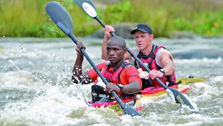 Siseko Ntondini and Piers Cruickshanks finished an overall seventh in this year's Dusi Canoe Marathon, clinching gold medals for the pair.