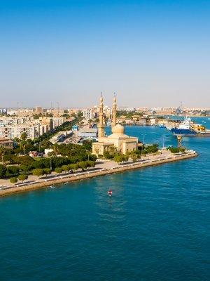 Suez Port - Suez Canal, Egypt