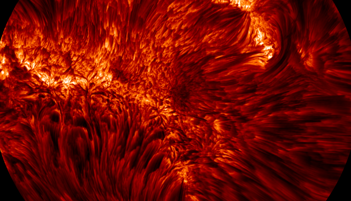 Astronomers at NASA's Big Bear Solar Observatory captured this close-up of the Sun's photosphere. It is one of the most detail snapshots we have of the surface of the Sun. To give a sense of scale, the very tip of each filament is roughly five times the size of Mount Everest.
