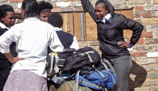 School pupils in Diepsloot