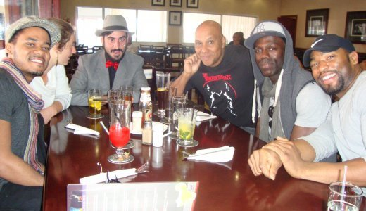 Celebrity guests at the launch of ajazz me in soweto.