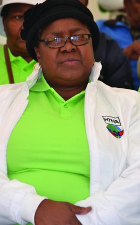 Founder of Liquor Traders Against Crime and president of National Tourism and Hospitality Association, Fanny Mokoena